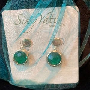 Sissy Yates Green Earrings